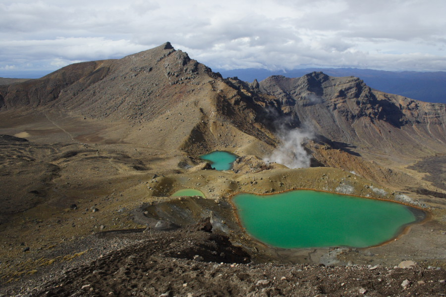 Nový Zéland - Tongariro Crossing - pěkné počasí